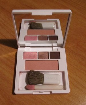 Clinique Lulu dk All About Shadow Trio & Soft Pressed Powder Blusher Palette USED.JPG