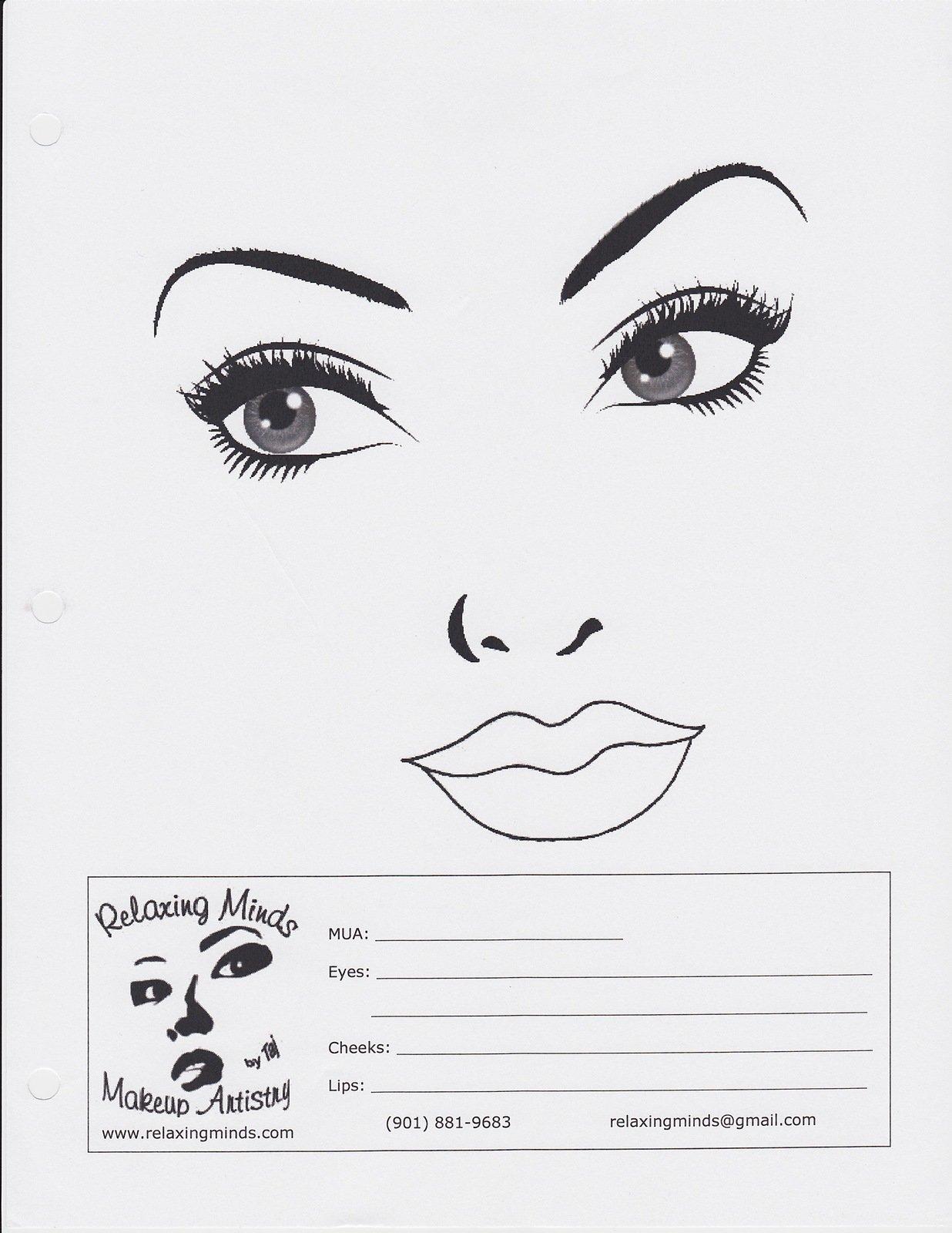 Turbo Blank Face Charts - Non-MAC FA01