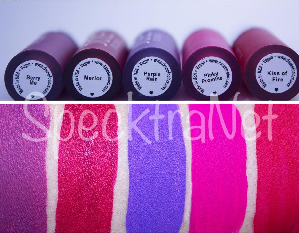 Dose of Colors: Matte Lipstick Bundle