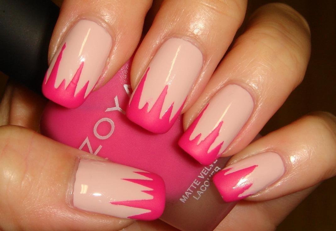 Nail Polish Designs 2 Colors Creative Touch